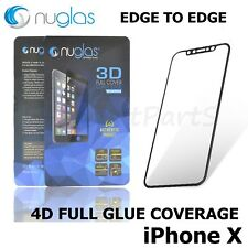 IPHONE X / XS NUGLAS 3D Japanese CURVED BLACK Tempered GLASS Screen Protector