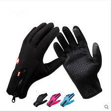 Wasserdicht Thermo Winter Handschuhe Finger Touch klappbar Sport Warm Gloves Neu