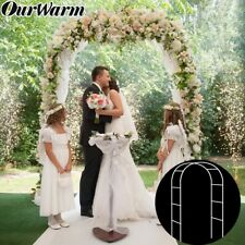 White Metal Flower balloon arch Rose Plants Archway Frame DIY Wedding Party Deco