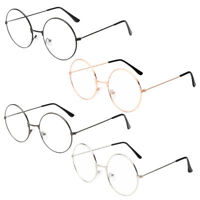 Fashion Retro Metal Frame Sunglasses Vintage Glasses Round Eyewear Women Men