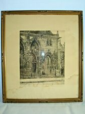 MARTIN MONNICKENDAM 1874-1943 No. 7 St. GERMAIN L'AUXERRIOS ENGRAVING SIGNED