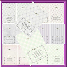 A5  LUXURY INSERTS FOR  SPECIAL CARDS X PACK1 (12 BLANK x12 WITH VERSE)
