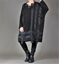 ♦ AKH Fashion Big Shirt EG  44,46,48,50,52,54,56,58,60,62 schwarz, Memory-Taft ♦