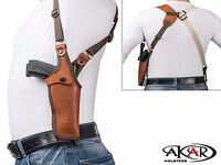 Vertical Shoulder Leather Holster Fits Hi-Point Firearms .45 ACP