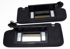 Sunvisor Black Suede with Lighted Mirror Adjust Bar Malibu LaCrosse Verano
