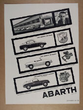 1959 Fiat Abarth 750 Coupe Spyder & Record Monza vintage print Ad