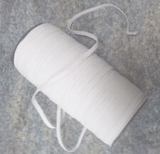 4 mtrs of  6mm (1/4 inches ) White Elastic