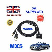 Mazda MX5 C860-V6-572B For Apple 3GS 4 4s iPhone iPod USB & 3.5mm Aux Cable