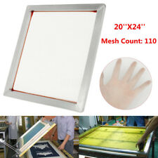 Aluminum Silk Screen Printing Press Screens Frame With 110 Mesh Count 24''x20''