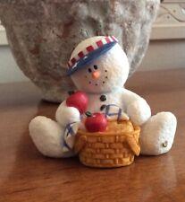 Sarah's Attic SnoWonders Summer Picnick Snowman Figurine