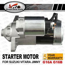 For Suzuki Starter Motor Vitara 1.6L G16A G16B Swift M15A 1.5L Jimny Ignis X-90