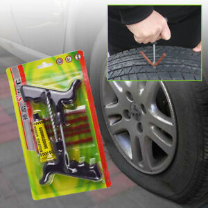 8 Pcs Car Tire Repair Tool Kit For Tubeless Emergency Tyre Fast Puncture Plug