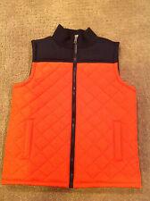 NWOT Gymboree Quilted Orange Navy Blue Vest Size Small