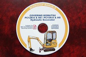 KOMATSU PC12R-8, PC12-8 HS HYDRAULIC EXCAVATOR SERVICE MAINTENANCE MANUAL