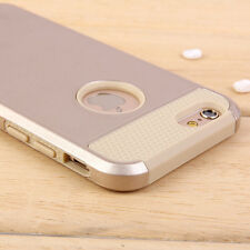 Gold Shockproof Hard PC Rugged Hybrid Rubber Case Back Cover for iPhone 6 4.7""