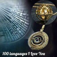 Mini Astronomical Projection Necklace 100 Languages Necklace I Love I7N0