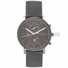 Skagen Original SKW6298 Men's Hagen Charcoal Grey Dial/Olive Leather Watch 42mm