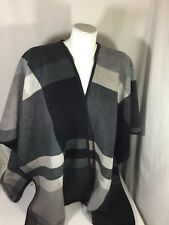 Ike Behar Women Poncho cover up open front  Gray Size One Size