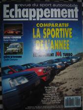 revue 1989 PEUGEOT 205 GTI SUPERTOURISME / FERRARI MONDIAL 8 GR.N / CARLOS SAINZ