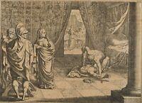 Sturz eines Monarchen, 18. Jh., Kupferstich