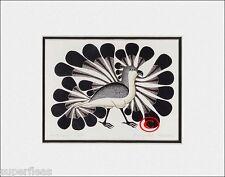 New - AUDACIOUS OWL by Inuit artist KENOJUAK ASHEVAK matted art print