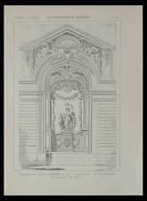 PAU, THEATRE DU PALAIS D'HIVER - 1898 - PLANCHE ARCHITECTURE - BERTRAND