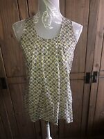 Benetton ( United Colours Of ) Ladies Yellow Pattered Top Size Xs 8 10