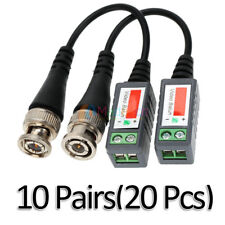 10 Pairs -MD42 CCTV Camera Passive Video Balun BNC Twisted Pair Connector Cable
