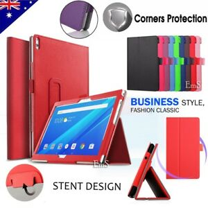 """For Lenovo Tab E10 M10 P10 10.1"""" Tablet Leather Flip Folding Stand Case Cover"""
