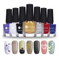 6ml Nail Stamping Polish Nail Art Templates Printing Varnish 12 Colors UR SUGAR