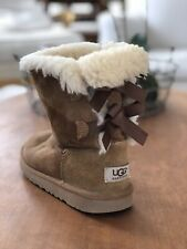 Ugg Bailey Bow Short Chestnut Single Left Boot Only Girls Size 3