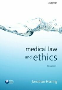 Medical Law and Ethics by Herring, Jonathan Book The Cheap Fast Free Post