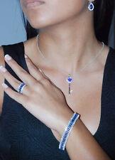 Tanzanite Marquises Bracelet ..925 Sterling Silver.