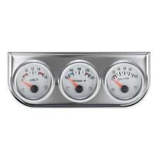 52mm Voltmeter+Water Temp +Oil Pressure Gauge Meter LED Light w/ Sensor kit E9W2