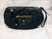 Tod's Black Nylon Leather Wristlet Clutch Bag