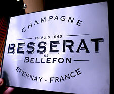 high detail airbrush stencil french champagne logo  FREE UK POSTAGE