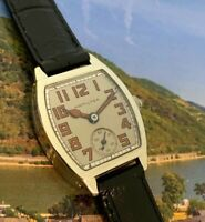 1928 Vintage Hamilton BARREL USA Made 987A White Gold Filled RESTORED&WARRANTY