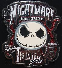 Disney NBC Nightmare Jack Skellington Twenty Twisted Years pin