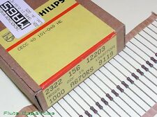 10pcs PHILIPS 22K / 22KΩ 0.6W 1% 350V 50ppm Professional Film Resistors.NOS