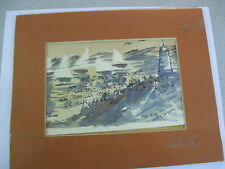 Beautiful,Vintage Water Color Painting Signed Patrice M.Champeau