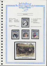 LIFE & TIMES OF QUEEN MOTHER 1985 BAHAMAS SET/4 + SS c/w ALBUM PAGE