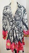 Floral Trench Coat Rain Desigual Jacket Size 40 Large Manteau Elizaveta print