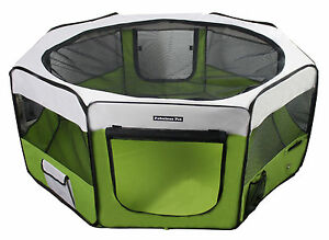 """62"""" Portable Puppy Pet Dog Soft Tent Playpen Folding Crate Pen New - Lime Green"""