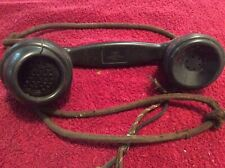Very Rare! Vintage Telephone Handset W Original Cloth Wiring And Switchboard