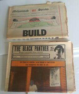 AUG 1971 BLACK PANTHER PARTY NEWSPAPER V5 #9 HUEY NEWTON & MUHAMMAD SPEAKS RARE!