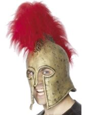 Roman Armour Helmet, Gold and Red Adult Mens Smiffys Fancy Dress Costume Hat
