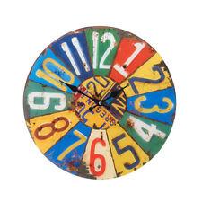 Horloges murales art déco multicolore pour le salon