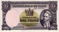 New Zealand 1 Pound signed Fleming issued 1960 - 1967 P159d EF+