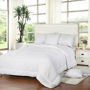 All Season Down Comforter Quilted Duvet Insert Box Style 250 GSM Utopia Bedding