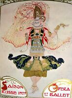 Poster Bakst Ballets Russes Comoedia Shown N° 10 1909 Poster Polychrome